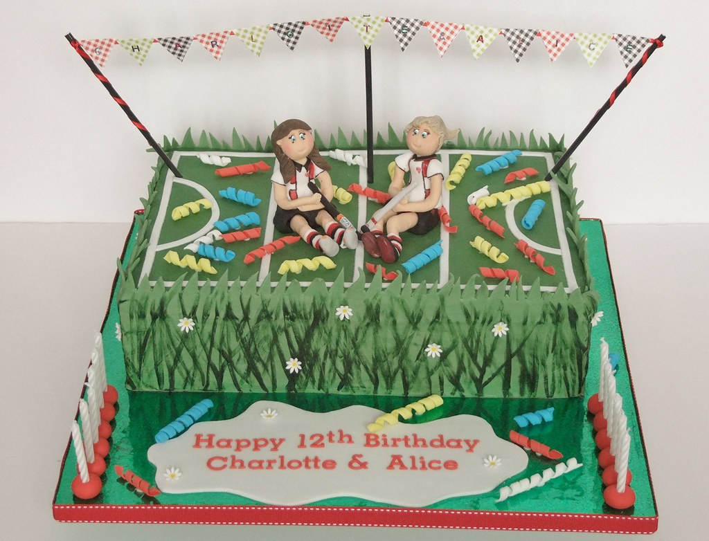 Field Hockey Joint Birthday Cake Clare Mcguire Flickr