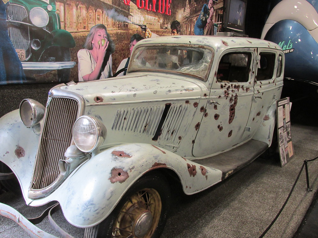 The bullet riddled Bonnie and Clyde movie car. The Volo Au… | Flickr