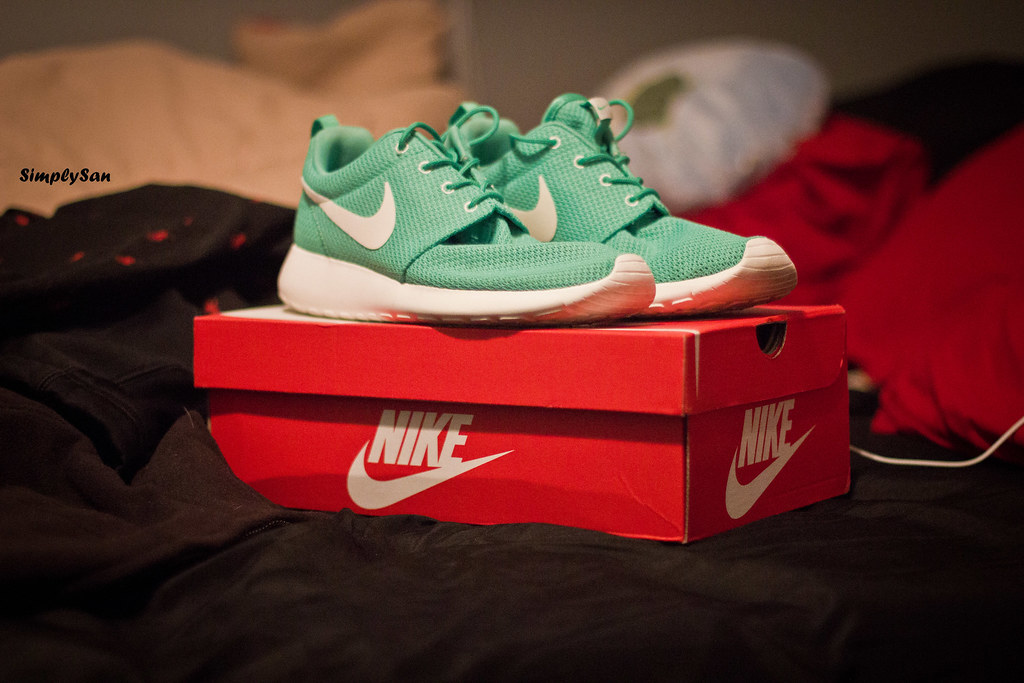 hot sale online c13dd 7ea9e ... good nike roshe run gamma green by simplysannn 53b95 bdf02