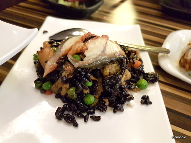 Japanese Style Eel Fried Black Rice