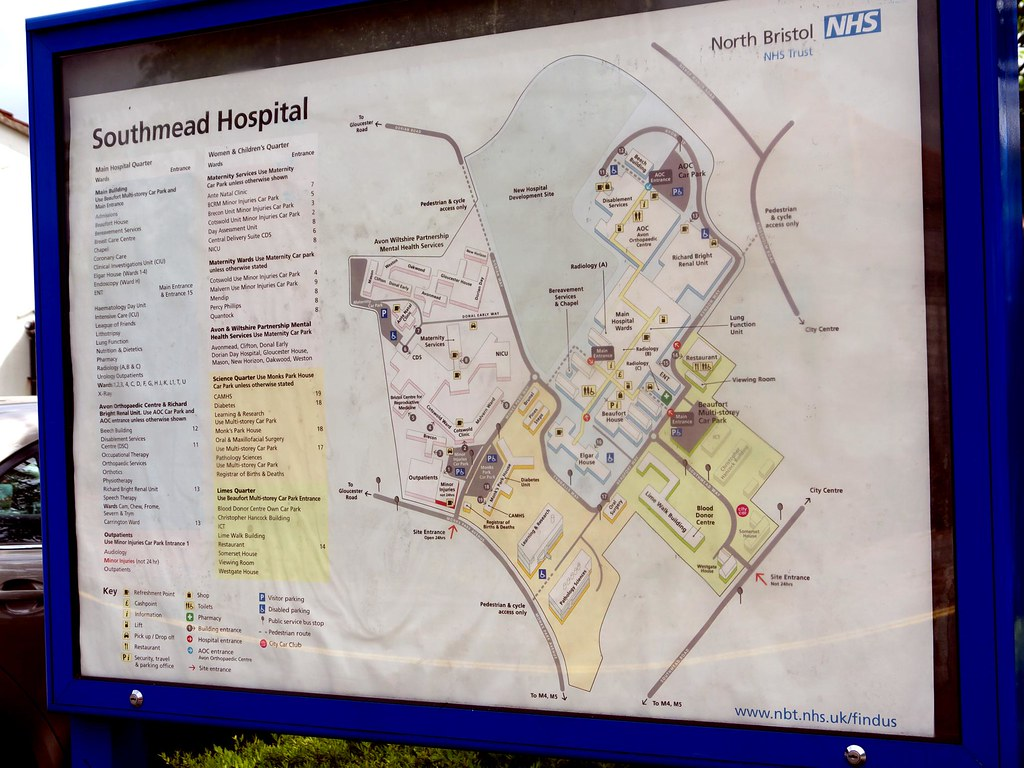 Southmead Hospital Map Southmead Hospital Map | Sam Saunders | Flickr Southmead Hospital Map