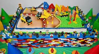 Lego Construction Birthday Cake