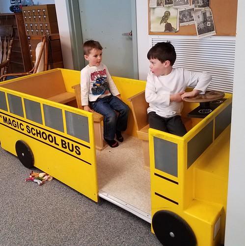 school bus drop off