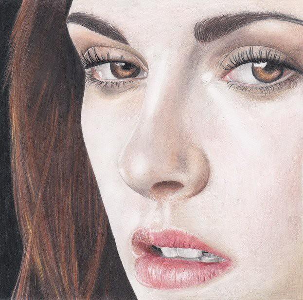 kristen stewart colour pencil portrait drawing jen robinson flickr