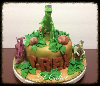 T-REX Birthday Cake Nora Rexach Flickr