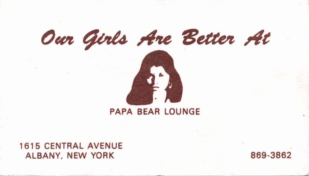 Papa bear lounge business card 1975 albany ny 1970s flickr papa bear lounge business card 1975 albany ny 1970s by albany group archive reheart Gallery