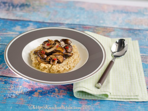 Quinoa and Brie with Sautéed Mushrooms (2)