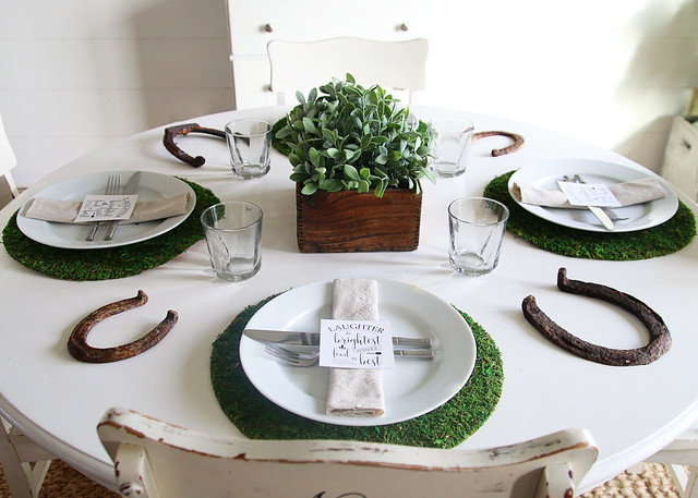 Simple St. Patrick's Day Table Setting