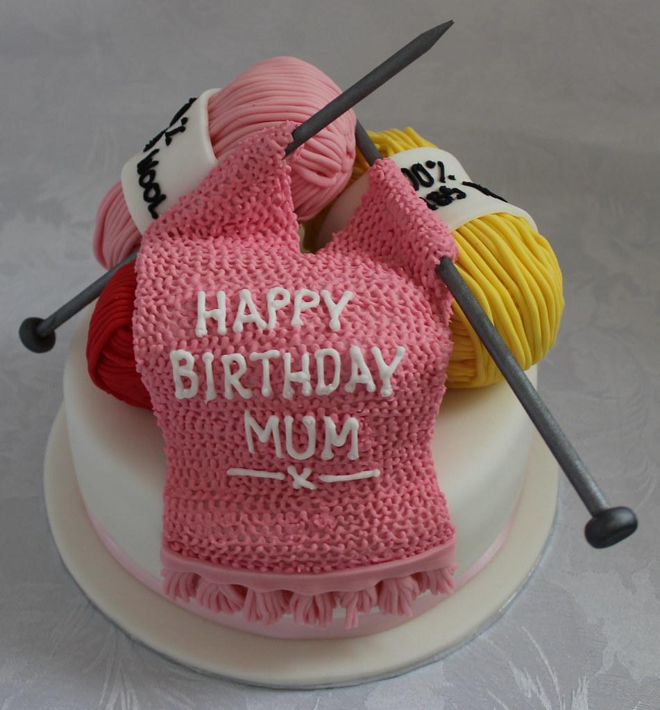 Knitting Birthday Cake Pauls Creative Cakes Flickr