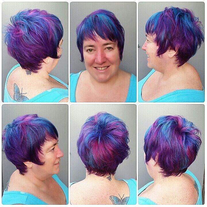 Purple Teal Magenta Criss Cross Swirl Hair Color Purple Te Flickr