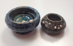 Two Bowls with Fine Silver Silver