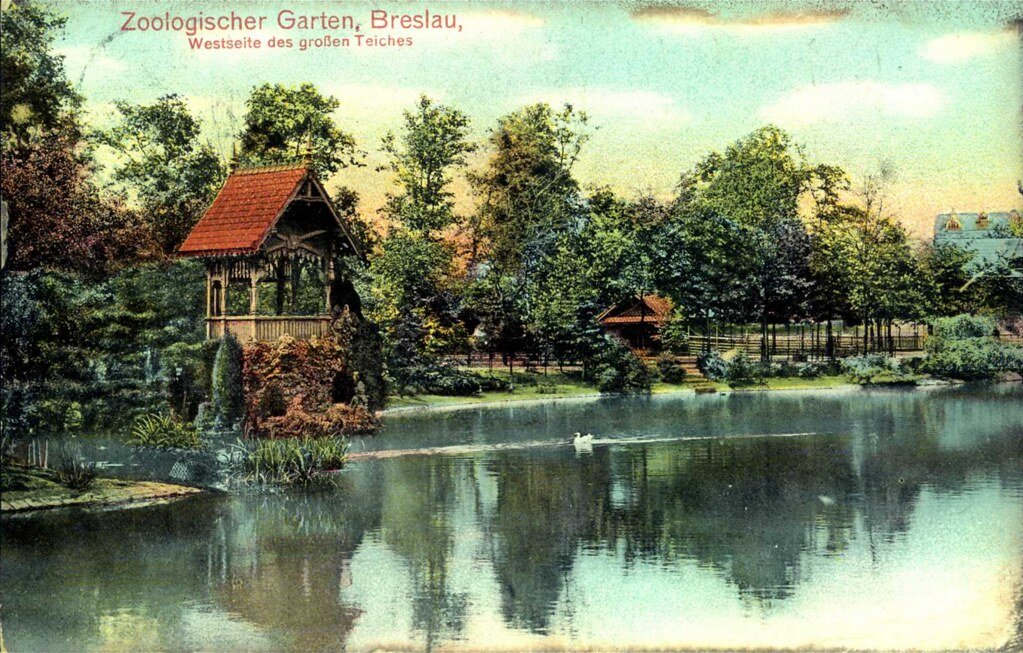 Vieille carte postale de Breslau/Wroclaw de 1900.
