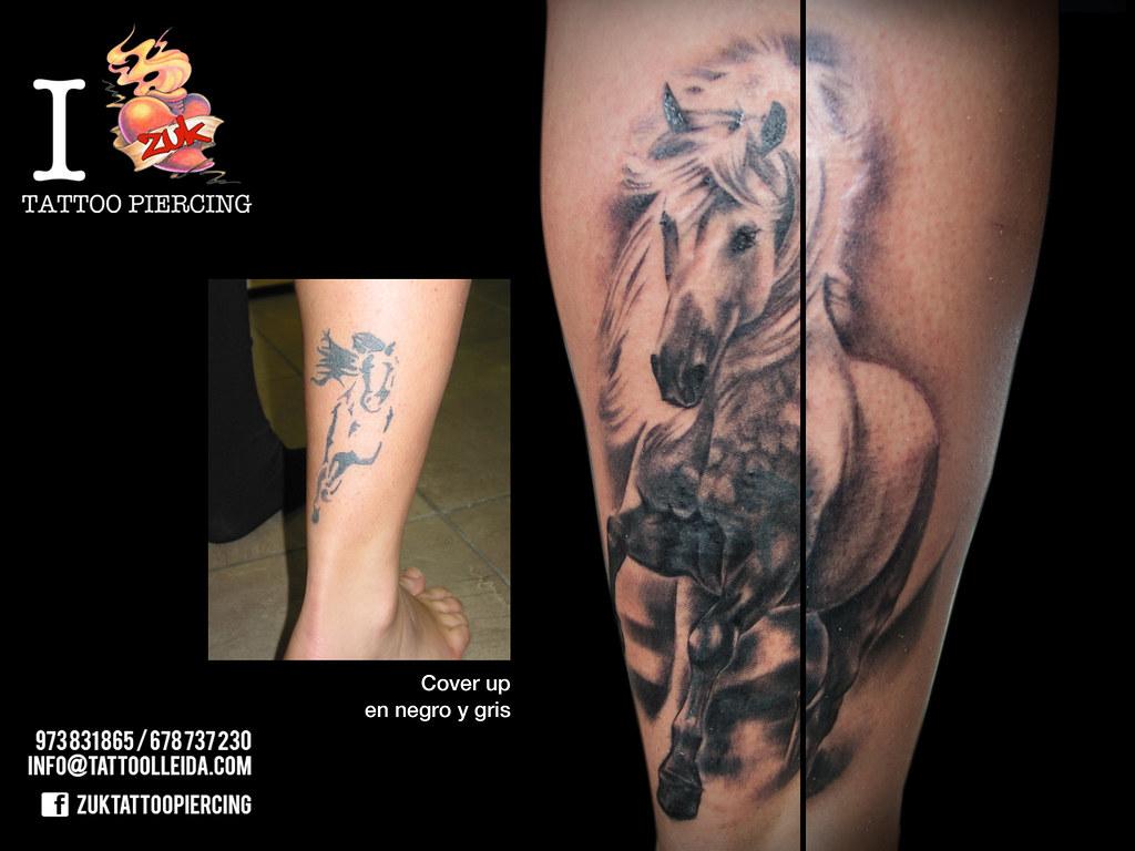 Tatuaje Caballo tatuaje-caballo-pierna-zuk   cover up con un caballo realist…   flickr