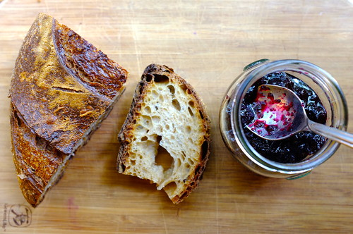 bread and homemade blueberry preserves | by Premshree Pillai