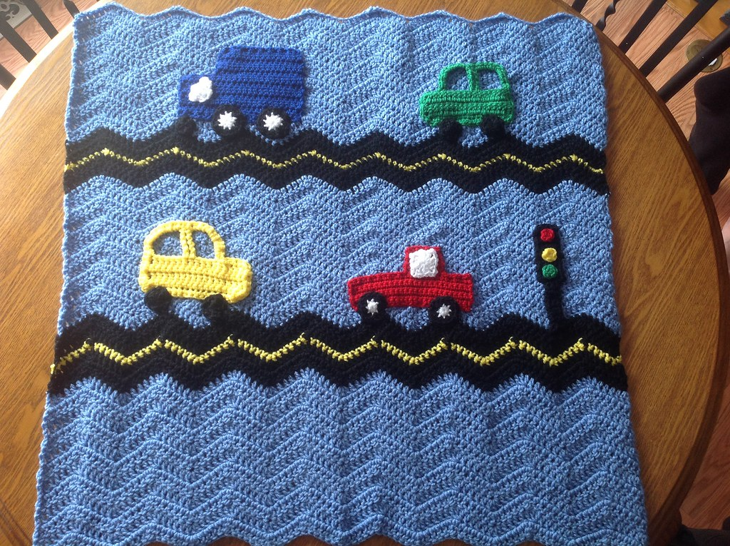 Cars And Truck Traffic Blanket Crochet Baby Blanket With T Flickr