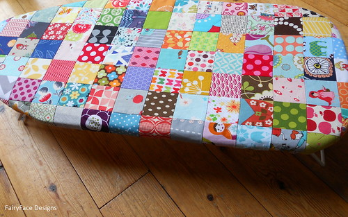 Scrappy Ironing board cover 1 | by Sarah @ FairyFace Designs