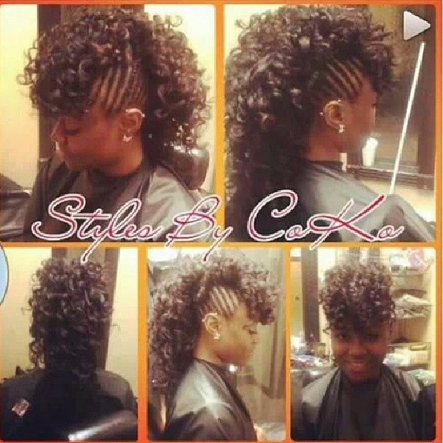 Braided Mohawk With Hair Sewn In Stylesbycoko Hairstyle Flickr