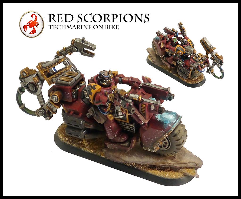 Red Scorpions Techmarine On Bike