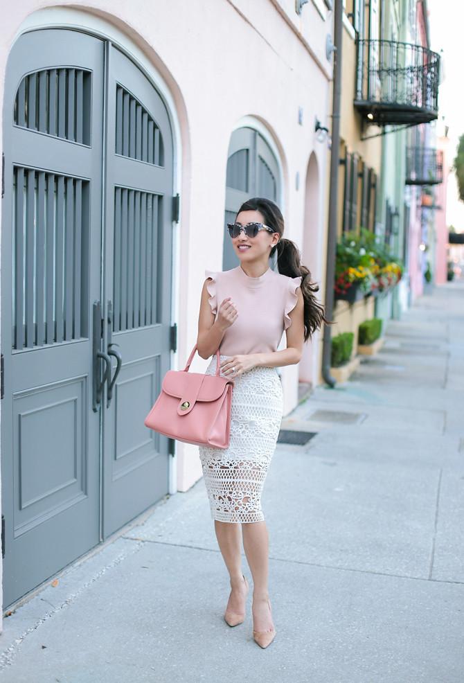 charleston elegant outfit ann taylor petite style