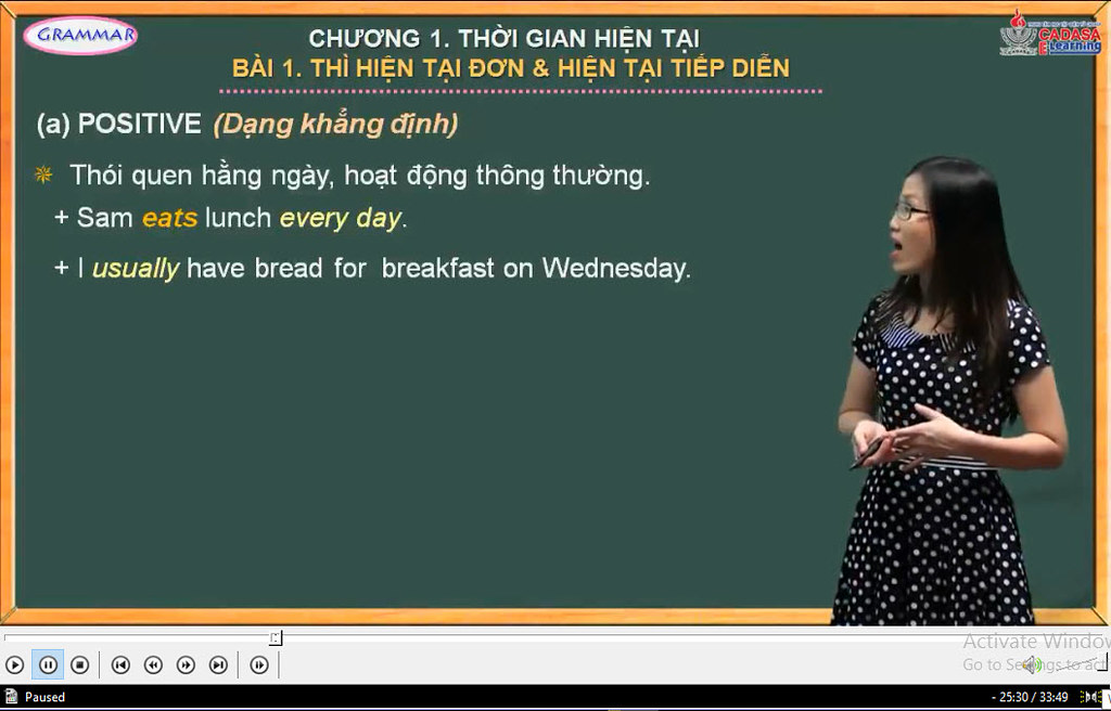 Video bài giảng ngữ pháp Tiếng Anh