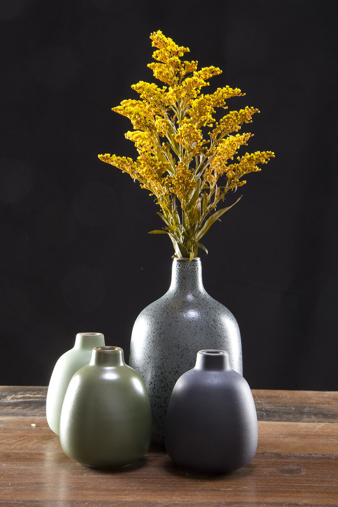 Four Heath Ceramics Vases Featuring Heath Ceramics Bud An Flickr