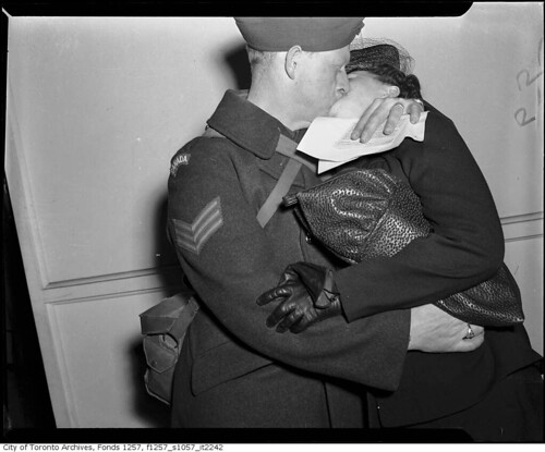 Soldier kissing woman | by Toronto History