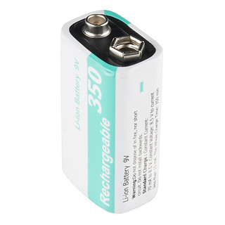 9V Li-ion Rechargeable Battery - 350mAh | by SparkFunElectronics