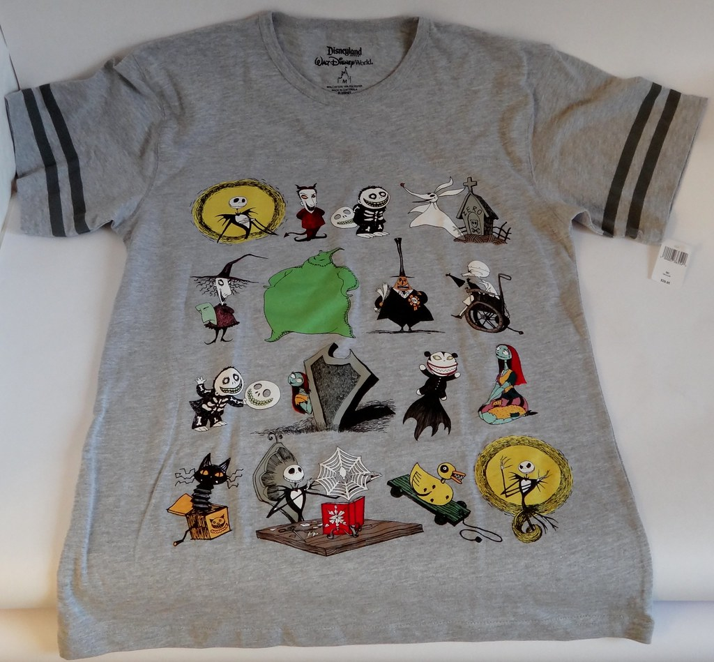 disney parks the nightmare before christmas t shirt cast of halloween town disneyland