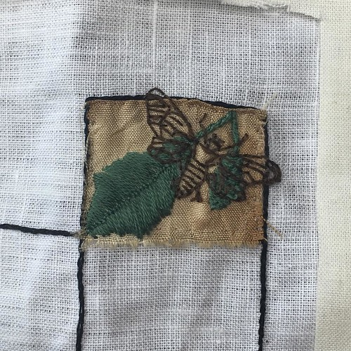 Aug 1/15 #embroidery #embroideryart #broderie #dogday #cicada #toronto #ontario | by obliquepoet