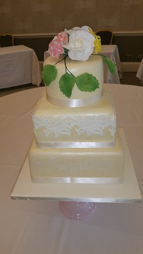 Three tiered wedding cake | by platypus1974