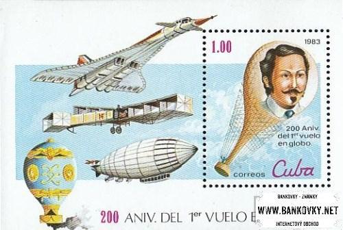 Známky Kuba 1983 Letectvo, razítkovaný hárček