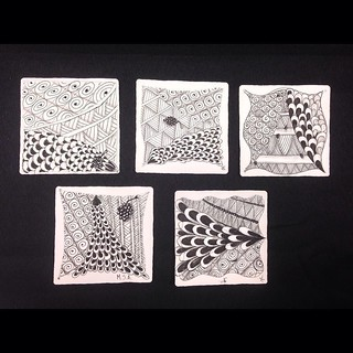 "More wonderful student tiles from yesterday's ""Introduction to Zentangle"" class in Windsor, Ontario. #zentangle #tangle #tangling #czt #laurelreganczt #art #classes #artclass #artclasses #draw #drawing #windsor #ontario #yqg 
