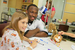 LeSean McCoy visits Children's Hospital | by Penn State Hershey