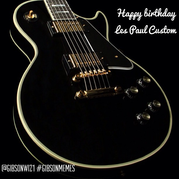 9347262052_413124d336_z happy birthday to the les paul custom! @gibsonwiz1 @gibson flickr
