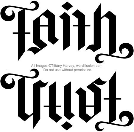 faith trust ambigram v 2 a custom ambigram of the w flickr. Black Bedroom Furniture Sets. Home Design Ideas