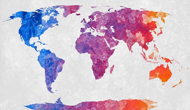 World Map - Abstract Acrylic