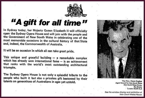 20th October 1973 - Sydney Opera House (Official opening) | by Bradford Timeline