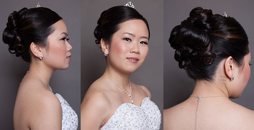 asian-wedding-hair-classic-updo-tiara-petal-curls | by vanmobilehair