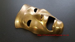 Mask in Brass | by PureGoldPlating