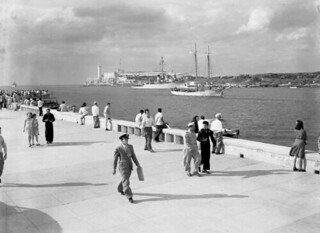 New merchant marine ship entering Havana harbor | by State Library and Archives of Florida