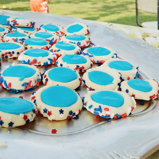 4th of july iced thumbprint cookies | by lesley zellers