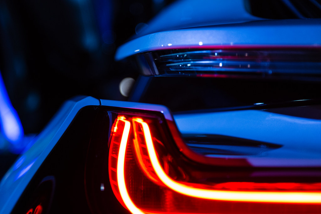 Bmw I8 Wing Turn Signal And Led Tail Light A Clear View Of Flickr