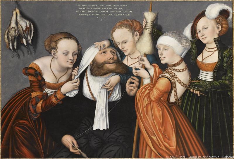 《ヘラクレスとオンファ》(1537年、バンブルグ財団・トゥールーズ)