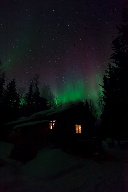 032717 - The cabin under a color-saturated sky