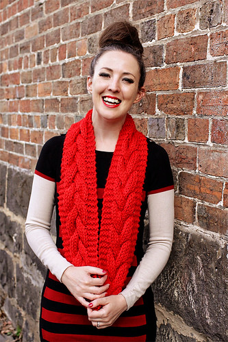 Chunky Cowl Red #2