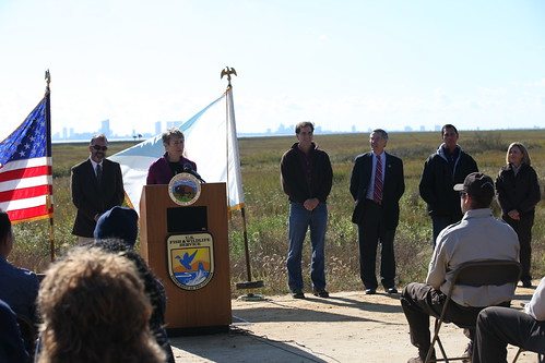 Secretary Sally Jewell speaking at Edwin B. Forsythe National Wildlife Refuge | by U. S. Fish and Wildlife Service - Northeast Region