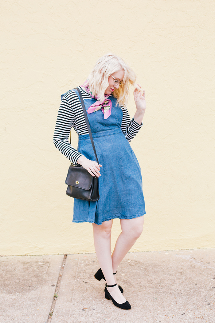 austin fashion blogger modcloth jumper striped shirt1