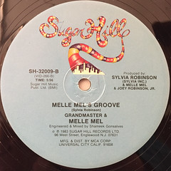 GRANDMASTER & MELLE MEL:WHITE LINES(DON'T DON'T DO IT)(LABEL SIDE-B)