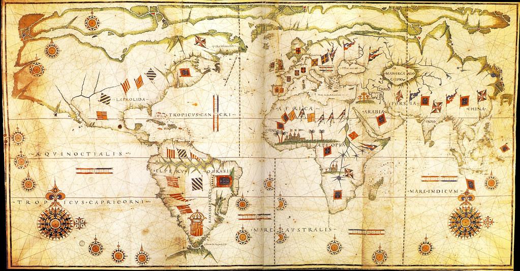 Carte Du Monde Parchemin 1585 anonyme carte portugaise du monde parchemin 1145x2180… | flickr