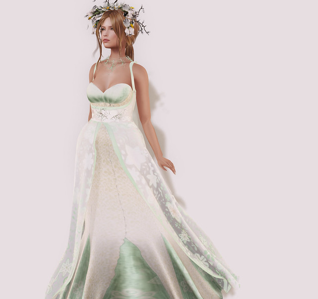 Indira's Light gown, mint, Silvan Moon Designs